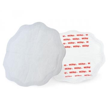 Накладки для груди хлопчатобумажные одноразовые, белые (30шт.уп)