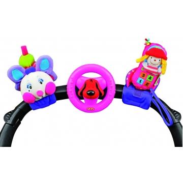 10581 Розовая гусеничка, руль и телефон, 6+