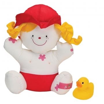 10419 Девочка Джулия с утенком (для купания) 9+