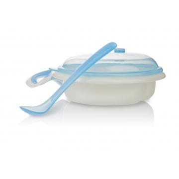 5312 Двухсекционная тарелка с держателем и ложкой, 0+
