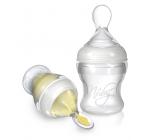 67275 Силиконовая бутылочка с ложечкой, 150мл, 3+